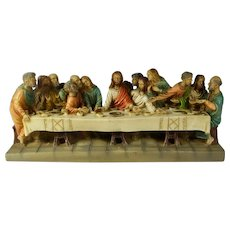 Last Supper Sculpture Hand-Painted & Signed By L. Toni