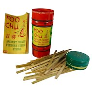 1960s Foo Chu Chinese Fortune Telling Sticks