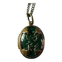Unusual Glass-Fronted Locket With Chinese Characters