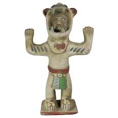 Aztec Jaguar Warrior Earthenware Statue From Mexico