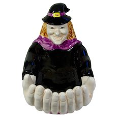 WCL Witch Ceramic Halloween Candy Dish