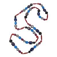 1970s Plastic New Orleans Mardi Gras Long Beads