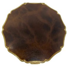 1950s Stratton Faux Tortoiseshell Mirror Compact