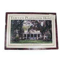 Tezcuco Plantation Souvenir Postcard Folder From Louisiana