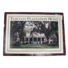Tezcuco Plantation Souvenir Postcard Folder From Louisiana