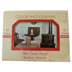 Mark Twain Home Souvenir Postcard Mini-Folder