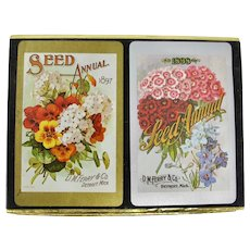 Congress Playing Cards 2 Decks In Seed Packet Slipcase