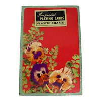 30% OFF! Imperial Pansy Patterned Slipcased Playing Cards