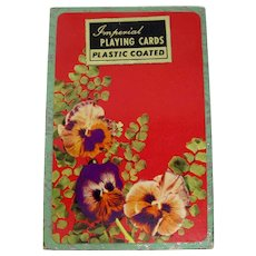 Imperial Pansy Patterned Slipcased Playing Cards