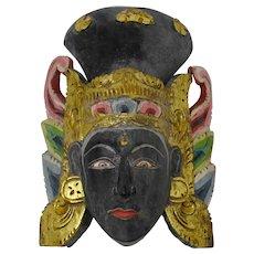 Balinese Carved Dewi Sri Goddess Mask