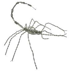 Handmade Wire Scorpion Sculpture