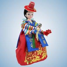 Bradley Import Big-Eyed Korean Wedding Doll