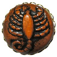 Vintage Ceramic Scorpion Brooch