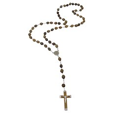 Holy Land Olivewood Rosary With Jerusalem Earth