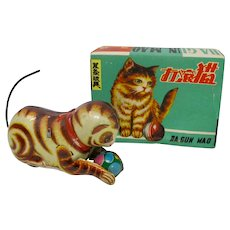 1930s Da Gun Mao Wind-Up Metal Cat Toy