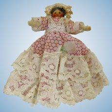 Handmade Cajun Lady Clothespin Doll