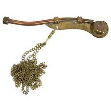 1940s Brass & Copper Boatswain's (Bosun's) Whistle