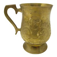 Engraved Brass Cup From Saudi Arabia
