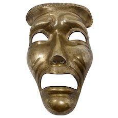 Theatrical Brass Tragedy Mask