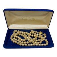 Hattie Carnegie Faux Golden Pearl Necklace (Mardi Gras Krewe of Babylon Favor)