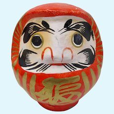 SALE! Red & Gold Japanese Daruma Doll