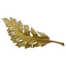 1961 Coro Gold Leaf Brooch