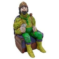 New Orleans Mardi Gras King Ceramic Figurine (Gold)