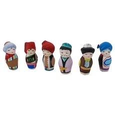 Traditional Clay Dolls From Uzbekistan (Set of 6)