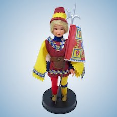 Siena Palio Contrade Souvenir Doll From Italy