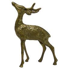 Brass Antlered Stag Sculpture