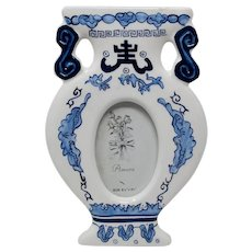 Blue & White Porcelain Standing Picture Frame