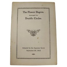 The Flower Degree Arranged For Druidic Circles Booklet (1912)