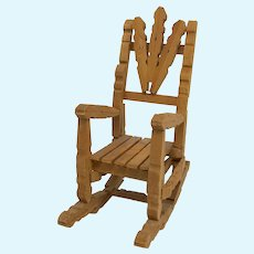"""SALE! 7"""" Doll Rocking Chair Handmade from Wooden Clothespins"""