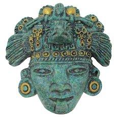 Zarebski Crushed Greenstone Aztec Mask