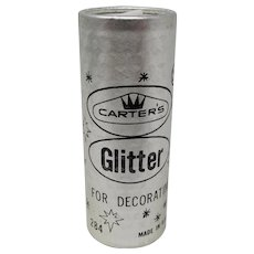 1970s Carter's Silver Glitter For Decorating