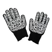 Black & White Mandala Gloves