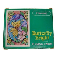 Butterfly Bright Stained Glass Playing Cards