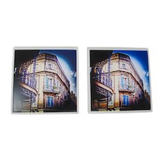 New Orleans French Quarter Tile Coasters (Set of 2)