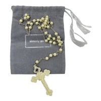 Celluloid Stanhope Viewer Rosary With Infant of Prague Image
