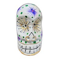Mexican Day of the Dead Hand-Painted Wooden Sugar Skull