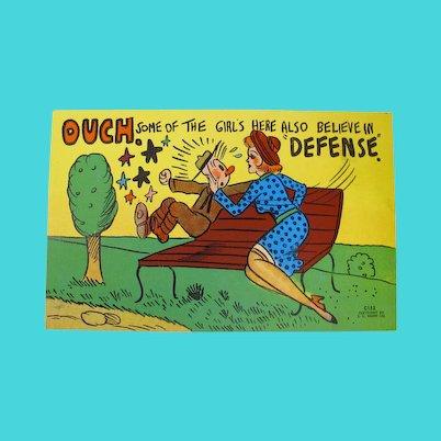 1940s E.C. Kropp Comic Postcard (Unused)