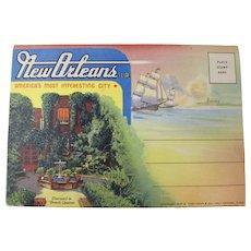1937 New Orleans Souvenir Postcard Folder