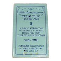 1970 Mlle. Lenormand Fortune Telling Cards