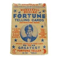 1930s Ingalls Wonderful Zodiac Fortune Telling Cards