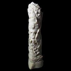 1930s Balinese Carved Bovine Bone Totem