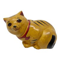 Franklin Mint Chalkware Ginger Cat Figurine