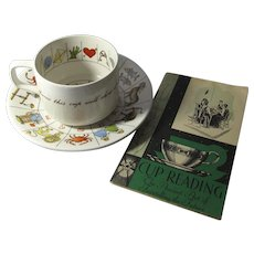 Vintage Taltos Fortune Telling Tea Cup Set by Jon Anton - Free Book