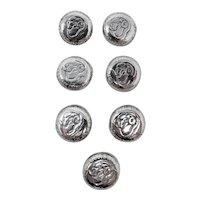 1940s Australian Shilling Shank Buttons (Set of 7)