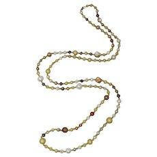 Coro Copper & Gold Rope Necklace