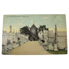 1912 New Orleans St. Roch Cemetery Postcard